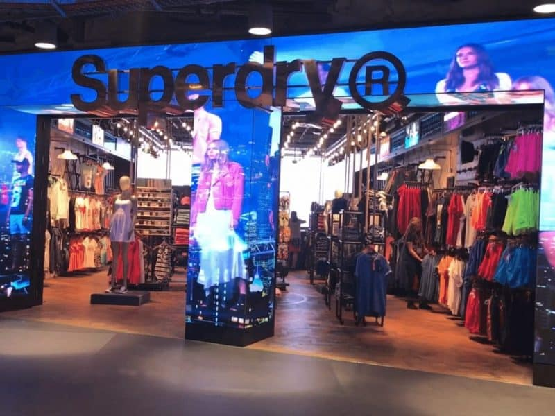 LED Shop front at Superdry Heathrow