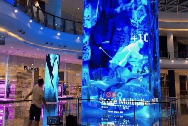playing games on interactive led screen London