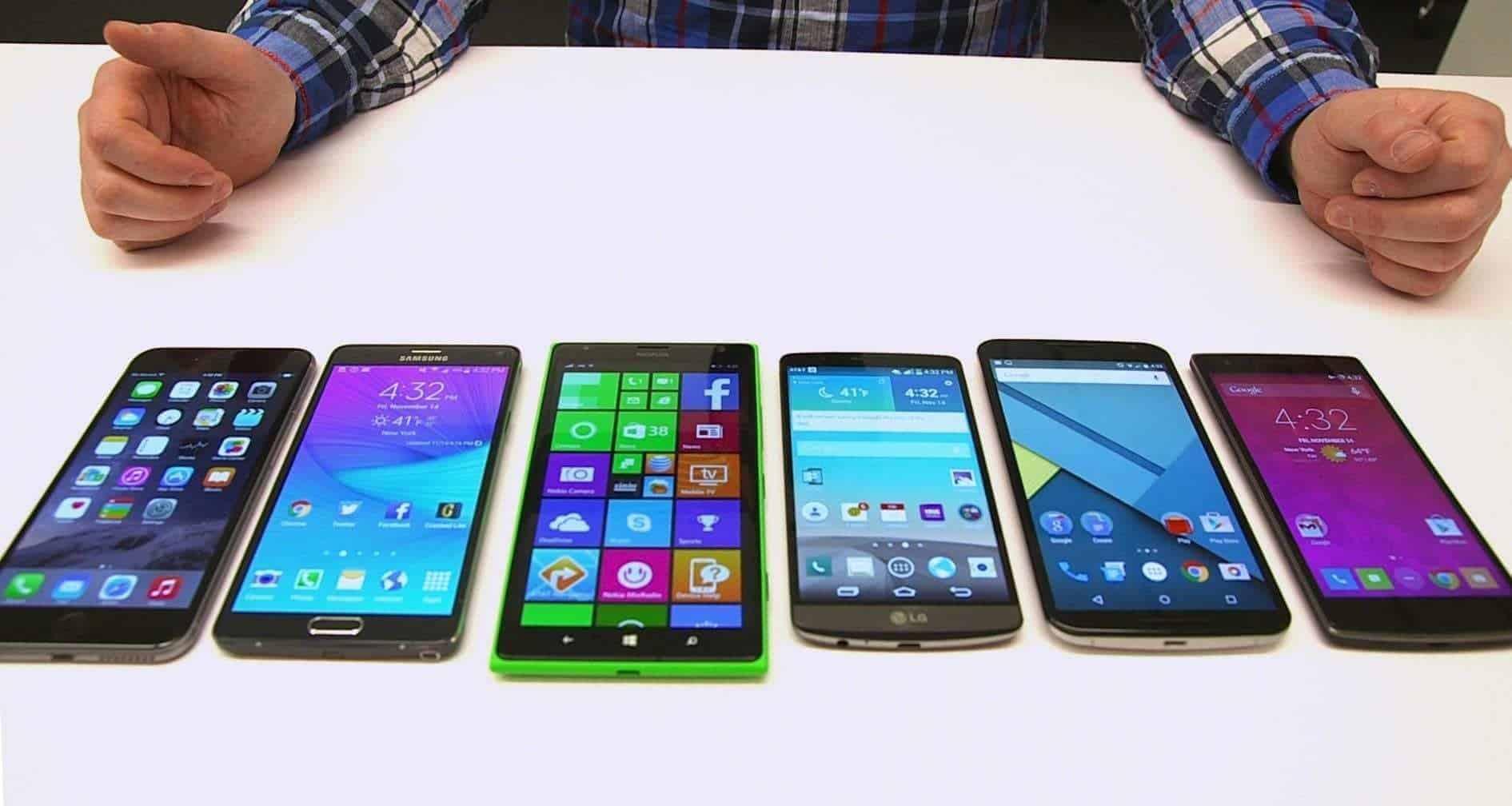 LED screens in mobile phones