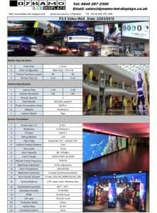 LED display specifications