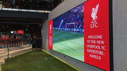 led wall Liverpool fc