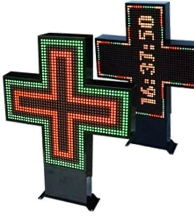 LED Pharmacy Signs - Cross and Custom Displays