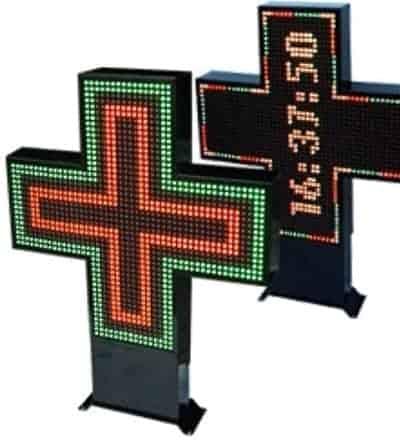 LED Pharmacy Signs - Cross and Custom Displays