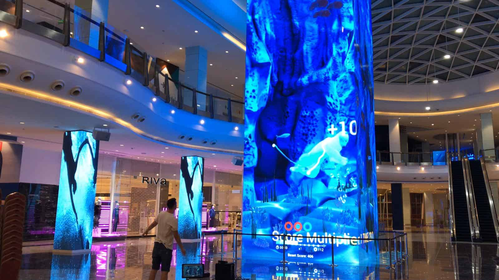 BIGGEST LED TOWER INSTALLATION AT MUSCAT GRAND MALL