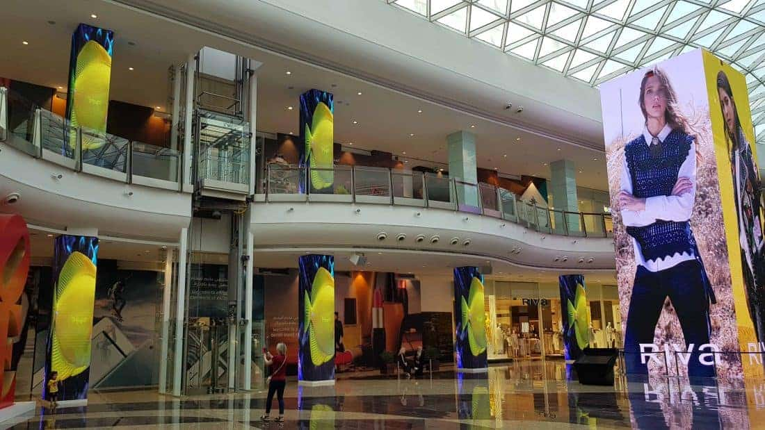 LED towers installation at Muscat mall, Oman