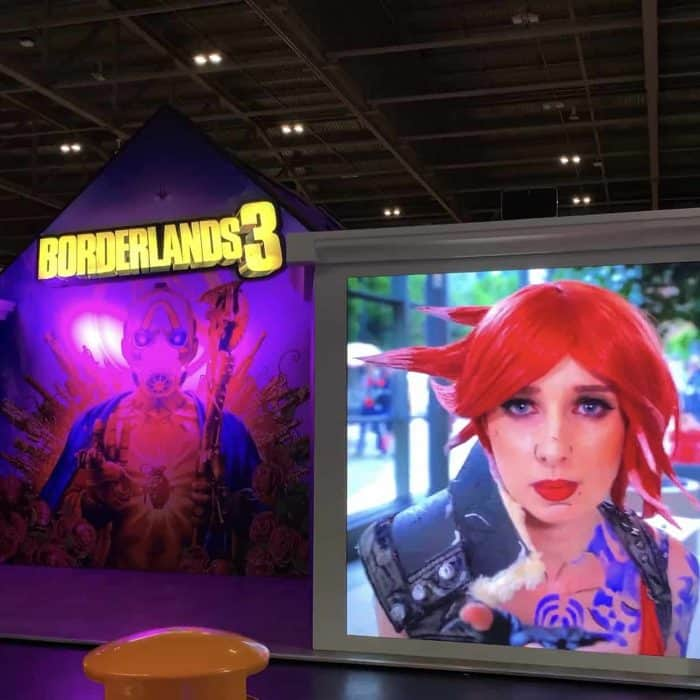 Borderlands 3 LED Screen Rental Exhibition Stand