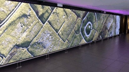 indoor LED screen installed by Dynamo